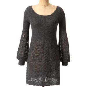 KNITTED & KNOTTED Anthropologie Gray Alpaca Dress